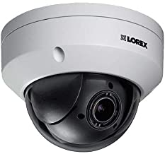 Lorex LNZ44P4B Super High Definition 4MP Indoor/Outdoor Day & Night PTZ Network Dome Camera with Color Night Vision, 4X Optical Zoom, Vandal Resistant, Waterproof