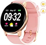 DOOK Smart Watch, Bluetooth Fitness Activity Tracker with Heart Rate Monitor, Wearable Blood Pressure Smartwatch for Women Men Kids, Waterproof Pedometer Compatible Andriod iOS,Pink
