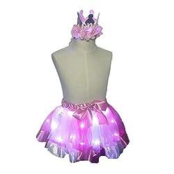 Pink LED Light Up Layered Short Tutu Skirt