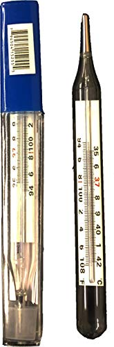 Hymark - High Accuracy Mercury Free Thermometer - For oral, auxiliary, and rectal use - 1 Thermometer (Color Varies From Blue To Green)
