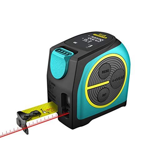 Release Cinta métrica láser Telémetro láser de medición láser Digital 2 en 1 con Pantalla Digital LCD, Gancho magnético (Size : 60M)