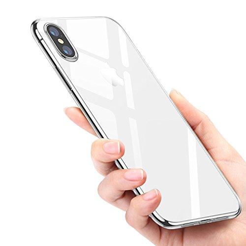 Mture Funda iPhone XS, Funda iPhone X, iPhone X Carcasa Ultra Fina Caso Anti-Arañazos Silicona TPU Protectora Funda Case para Apple iPhone X/iPhone XS - Transparent