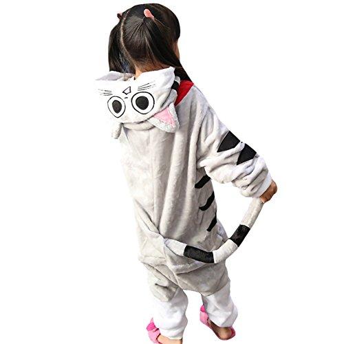LPATTERN Cosplay Disfraz Pijamas Animales Carnaval Fiestas Partidos Franela Niños Unisex Niñas Gato L