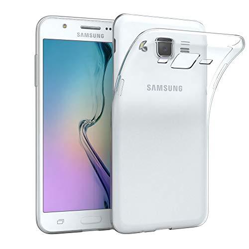 EAZY CASE Hülle kompatibel mit Samsung Galaxy J5 (2015) Schutzhülle Silikon, Ultra dünn, Slimcover, Handyhülle, Silikonhülle, Backcover, Durchsichtig, Klar Transparent
