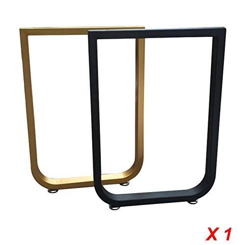 Furniture legs Moderne verstellbar Tischkufen, einzigartige U-Form Tischgestell Tischuntergestell, tischbeine aus 50 * 30 mm Vierkantrohr, schwarz, Gold, anpassbare Größe