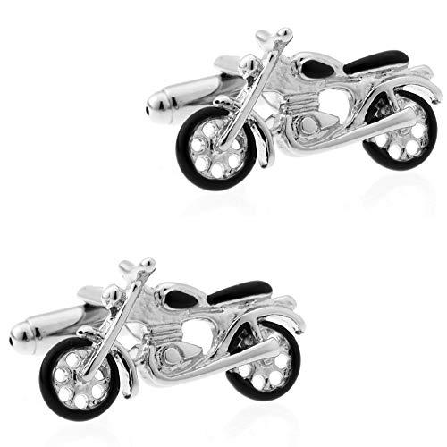 Ogquaton Herren Manschettenknöpfe Manschettenknöpfe Set Motorrad Manschettenknöpfe Business Hochzeitsgeschenke für Männer Frauen 1 Paar Robust und kostengünstig