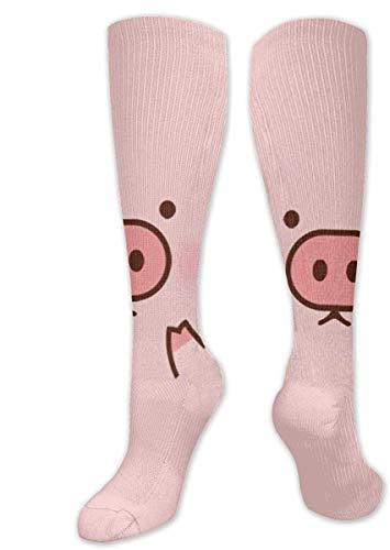 NA Herren & Frauen Casual Kniestrümpfe Halbwadensocken, Kostüm, Cosplay-Socken, Mädchen, lustige Socken, Schweinchen, Cartoon-Muster
