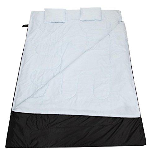 Double Couple Sacs de couchage Plus épais À l'extérieur Camping 450G / m2 Coton (Y compris l'oreiller * 2) , white