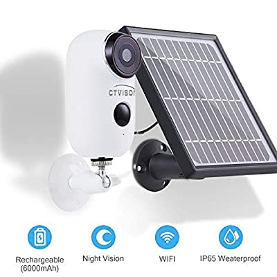 Outdoor Solar Battery Powered Security Camera System,YTVISON 1080p HD 2-Way Audio Night Vision with PIR Motion Sensor SD Card Slot and Cloud Service from YTVISON