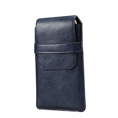 GUOQING Funda universal de piel con clip para cinturón de teléfono, con clip para cinturón
