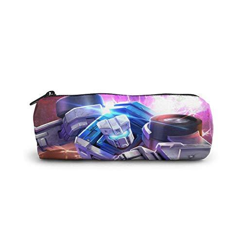 Barricade Sqweeks Merchandise Transformers 5 The Last Knight Bleistifttasche Kosmetiktasche Reißverschlüsse für Männer Frauen Erwachsene Make-up 3D Druck