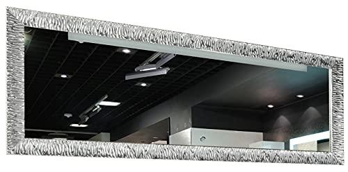 GaviaStore – Julie Argento 140x50 cm - Specchio moderno da parete (18 formati e colori) lungo figura intera alto grande decor soggiorno modern sala paret camera bagno ingresso