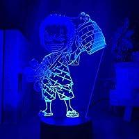 giyiohok3DイリュージョンナイトライトアニメワンピースLedナイトライトロロノアゾロフィギュア子供用寝室の装飾USBテーブル3Dランプギフトスマートタッチナイトライトギフトボーイガールキッズ用