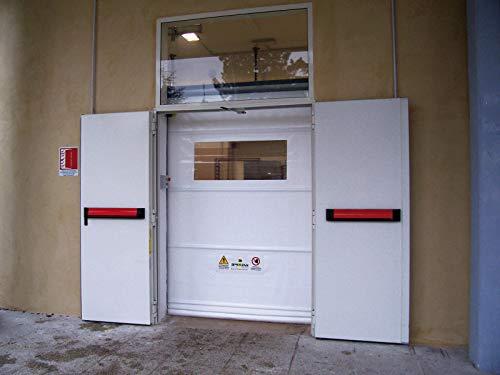 Puerta industrial rápida de rayo (3250 x 3250 mm de altura, blanca)