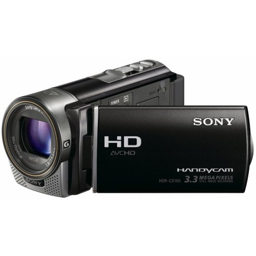 Sony HDR-CX160EB Full-HD Camcorder 16GB (3,3 Megapixel, 7,5 cm (3 Zoll) Touchscreen, 30-fach opt. Zoom) schwarz