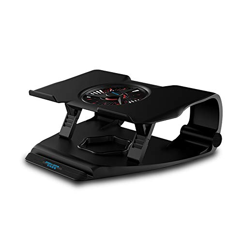 Laptop Table Cooling Stand, Portable Notebook Cooler 12-17 Inch Laptop Cooler Pad, Dual USB Port, Gaming Cooling Fan for Laptop