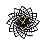 MODERN WALL CLOCK: Designed with vintage black art styles, these modern time keepers make a decorative addition to your home or living space SYMBOLIZING BALANCE: Mandala art designs are about helping you to connect with your own subconscious while em...