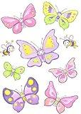 HEITMANN Fensterbild Schmetterling 9 Schmetterlinge in Farbe