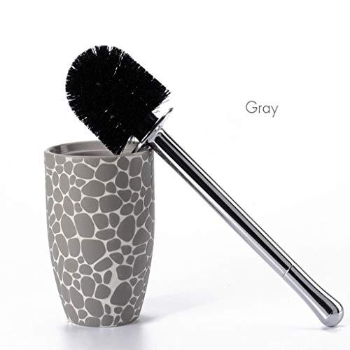 HBR Concise Aseo del Sistema de Cepillo, for Suelo de tocador de cerámica Brush, for el baño Limpieza y Decoración- (Tres Colores están Disponibles) (Color : Gris)