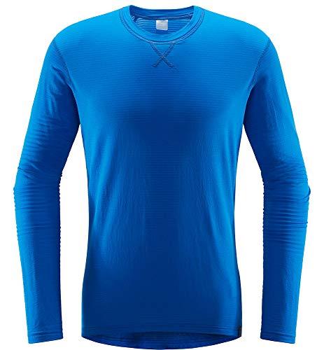Haglöfs L.I.M Mid Roundneck shirt met lange mouwen voor heren, kleine pakmaat, verwarmend, ademend, elastisch