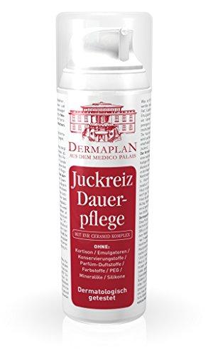 Dermaplan Juckreiz Dauerpflege | trockene Haut & akuten Juckreiz effektiv lindern | Juckreiz-Creme bei Ekzemen | Hautreizungen | Schuppenflechte | Neurodermitis | feuchtigkeitsspendend | 100% Vegan | Made in Germany, 150ml