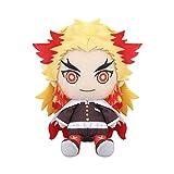 Demon Slayer Kimetsu No Yaiba Plush Doll Toy Anime Figure Kyoujurou/Uzui Tengen Stuffed Plushie Cute Toys Keychain Cosplay Props Halloween (Rengoku Kyoujurou, 18cm/7inch)