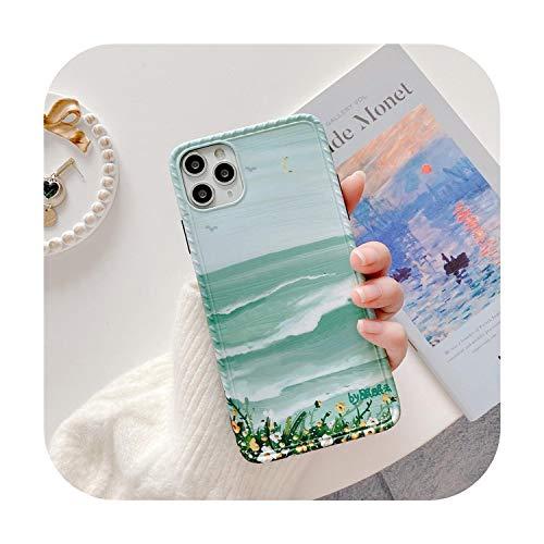 phonecase - Carcasa para iPhone 11 Pro Max Xr X Xs Max, diseño de flores de primavera