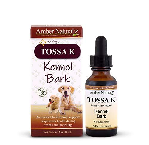 AMBER NATURALZ - TOSSA K - Kennel Bark - Respiratory Health - for Dogz - 1 Ounce