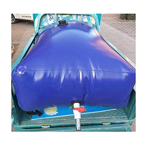 GDMING Plegable Bolsa De Almacenamiento De Agua, Exterior Portátil Recipiente De Agua De PVC De Transporte A Prueba De Fugas, Uso De Agua De Emergencia con Grifo Y Válvula De Drenaje