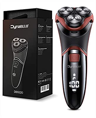 DynaBliss Electric Shavers Razor for Men,3D Rechargeable Electric Shaver Wet and Dry Men's Shaving with Pop-up Trimmer-IPX7 Waterproof from DynaBliss