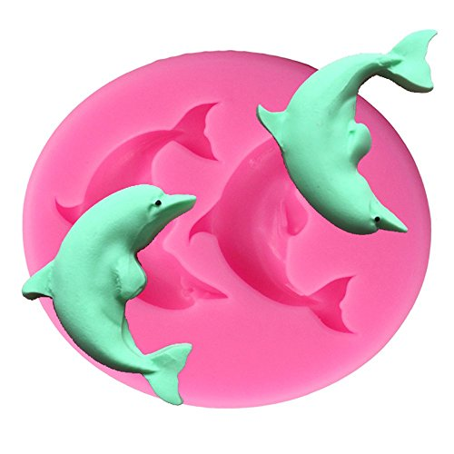Samzary Dolphin Silicone Cake Mold DIY Cake Mould Cupcake Mold Pop Cupcake Baking Mold for Decorating Cakes Chocolate Candy and many others
