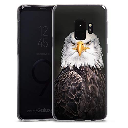 DeinDesign Slim Hülle extra dünn kompatibel mit Samsung Galaxy S9 Silikon Handyhülle transparent Hülle Adler Vogel