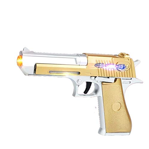 JOYSAE Desert Eagle Toy Pistol ,Special Pistol Toy ,with Flashing Lights & Sound,Durable Design, Non-Slip Handle, Lighting for Pretend Games, Parties, Halloween, Police and Cowboy Dress up Toy Gun…
