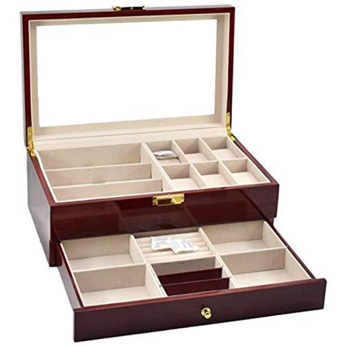 ANZRY Caja de Almacenamiento de Relojes Organizador de Almacenamiento de Joyas con Cojines Suaves Extraíbles para Hombres y Mujeres Cajas de Colección Caja de Reloj
