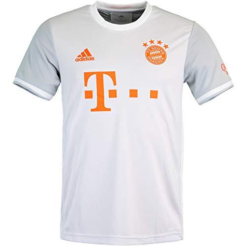 Adidas - Maglia del FC Bayern Monaco Away (XXL, grigio/bianco)