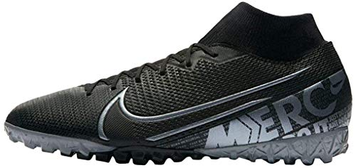 Nike Mercurial Superfly 7 Academy TF Turf Soccer Shoes- Black (10)