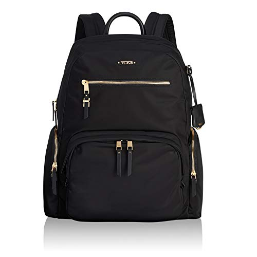 TUMI - Voyageur Carson Laptop Backpack - 15 Inch Computer Bag for Women - Black/Gold