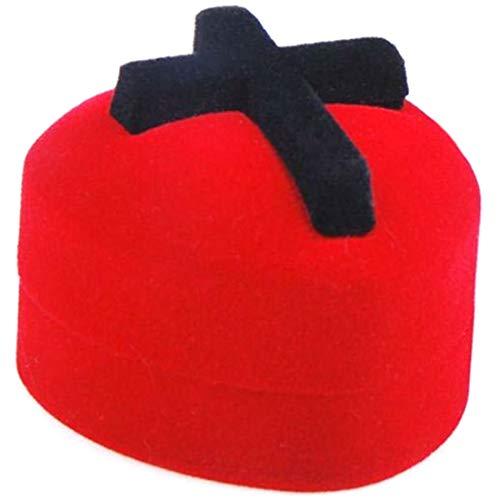 (I) レッドハートクロス ギフトボックス レディース ラッピング用 プレゼント用 ジュエリーケース 宝石箱 ギフトケース 指輪ケース ベルベット ベロア調 十字架 携帯用 小箱 アクセサリー用 人気