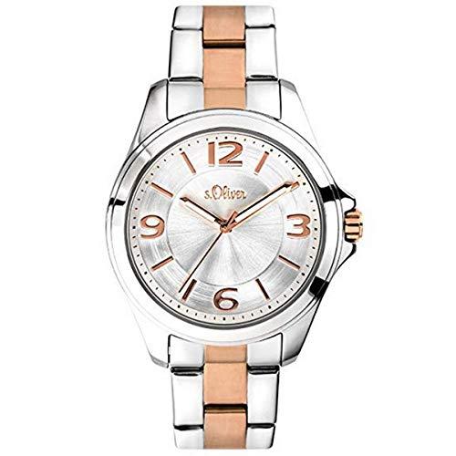 s.Oliver Damen-Armbanduhr Analog Quarz Edelstahl SO-3682-MQ