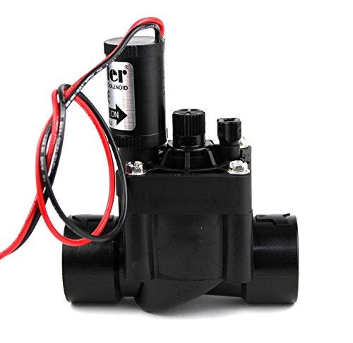 "HUNTER PGV-100G-B 9V Electroválvula de riego, 1"", Negro, 11.0x6.0x14.5 cm"