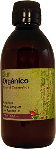 Olio di Rosa Mosqueta Puro al 100% - 250ml (1/4 litro) - Sur Orgánico. Olio di Rosa Mosqueta reale Prodotto Patagonia Cilena Proprietà testate per la pelle perfetta