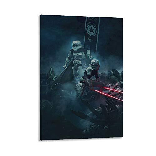 DRAGON VINES Star Wars - Póster de tropas de asalto de la Primera Orden del Imperio Galáctico de la Primera Orden de los soldados de la Tormenta de la Galaxia sobre lienzo, decoración del hogar,
