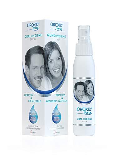 OROXID® Forte Spray für die intensive Mundpflege und Behandlung von Zahnfleischentzündungen, Parodontitis, Grippeprävention, Easy Portable 100 ml