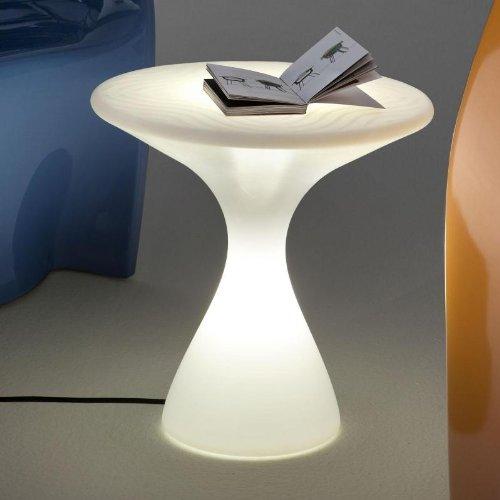 Driade Kissino Beistelltisch, Opal mit Netzstecker und Leuchtmittel