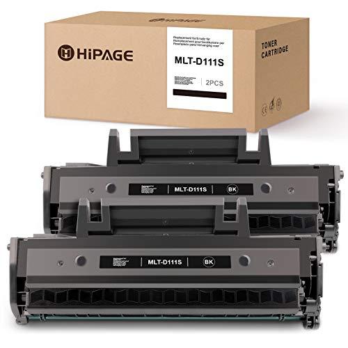 HIPAGE MLT-D111S Toner Sostituzione per Samsung MLT-D111S Compatibile con Samsung Xpress M 2026 M2026 M2026W M 2070 SL-M2070 SL-M2070W M2070F M2070FW M2020 M2020W M2022 M2022W(2 Nero)