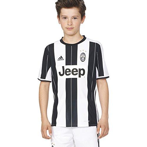 adidas Boys' Soccer Juventus Youth Jersey, White/Black, X-Large