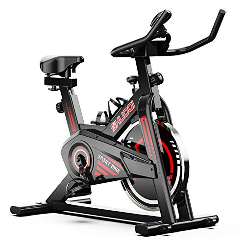 Bicicleta de Ejercicio, Ciclismo en Bicicleta de Aptitud Interior, con Pantalla LCD, Cinturón de Volante de la Unidad de Correa, para el Entrenamiento en casa, Entrenamiento Cardio.