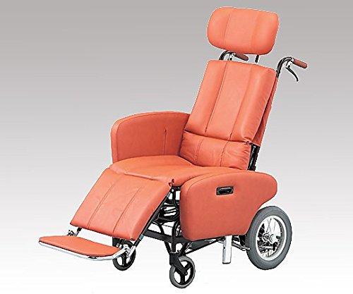 【非課税】日進医療器 フルリクライニング車椅子 (介助式/スチール製/座幅460mm/35.2kg/チルト) NHR-7B