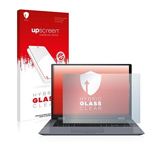 upscreen Protector Pantalla Cristal Templado Compatible con ASUS VivoBook Flip 14 TP412UA Hybrid Glass - 9H Dureza
