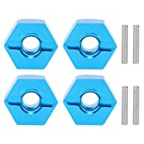 Hubs Nut, 5MM Wheel Hex Mount Hubs Nut with Pins Fit for WLtoys 1/14 144001 RC Car Wheel Hex Mount Hubs (Blue 1266B)